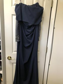 Vince camuto Blue Size 12 Plus Size Straight Dress on Queenly