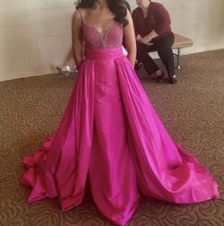 Sherri hill Pink Size 0 Train Dress on Queenly