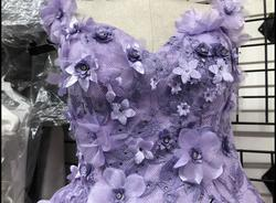 May queen inc Purple Size 8 Sweetheart Sweet 16 Cap Sleeve Quinceanera Ball gown on Queenly