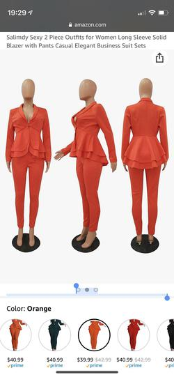 Salimdy Orange Size 4 Ruffles Fitted Plunge Jumpsuit Dress on Queenly