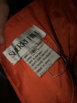 Sherri Hill Orange Size 0 Sequin One Shoulder A-line Dress on Queenly