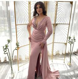 Shiny Dresses Fashion Multicolor Size 6 Lace Backless Sheer Sequin Side slit Dress on Queenly