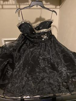 Grace Karin Black Size 16 Corset Plus Size Strapless Ball gown on Queenly