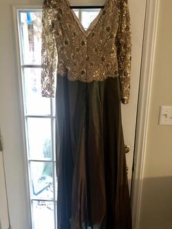 Jovani Multicolor Size 12 Plus Size Prom A-line Dress on Queenly
