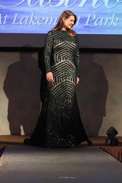 Jovani Green Size 10 Nude Sequin Train Straight Dress on Queenly