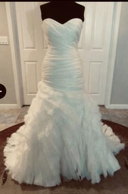 Sottero and Midgley White Size 18 Strapless Plus Size Mermaid Dress on Queenly