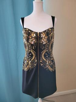 Sherri Hill Black Size 14 Vintage Sequin Cocktail Dress on Queenly