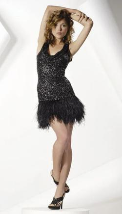 Style 757 Jovani Black Size 6 Prom Sequin Cocktail Dress on Queenly