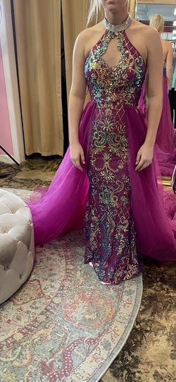 Jonathan Kayne Purple Size 4 Train Dress on Queenly