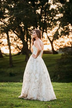 Style 51595 Sherri Hill White Size 2 Embroidery Ball gown on Queenly