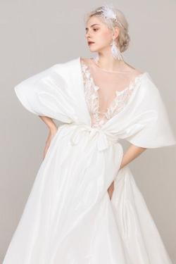 Cocomelody White Size 4 Sheer Tulle Sequin Ball gown on Queenly