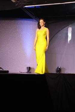 Johnathan Kayne Yellow Size 2 Straight Dress on Queenly