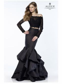 Alyce Paris Black Size 4 Mermaid Dress on Queenly