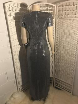 R$M Richard Silver Size 4 Sequin Straight Dress on Queenly