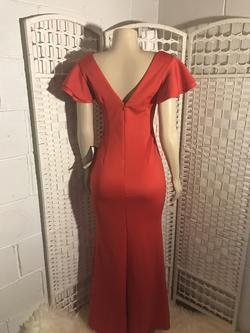Betsy & Adam Red Size 2 Side Slit Straight Dress on Queenly