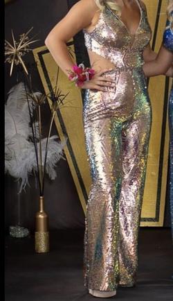 Rachel Allan Multicolor Size 4 Prom Jumpsuit Dress on Queenly