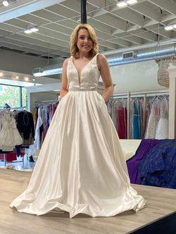 Sherri Hill White Size 8 Prom Pageant Homecoming Ball gown on Queenly