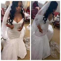Style Wedding dress Maggie Sottero White Size 14 Corset Mermaid Dress on Queenly