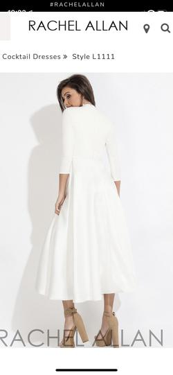 Rachel Allan White Size 2 Cocktail Dress on Queenly