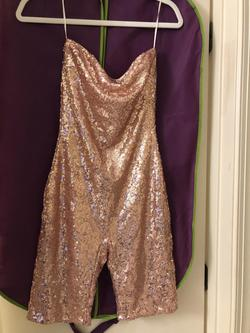 Fashion Nova Pink Size 4 Sequin Fun Fashion Jumpsuit Dress on Queenly
