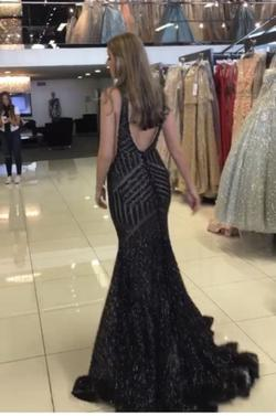 Jovani Black Size 6 Pageant Train Dress on Queenly