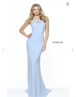 Sherri Hill Blue Size 4 Mermaid Dress on Queenly