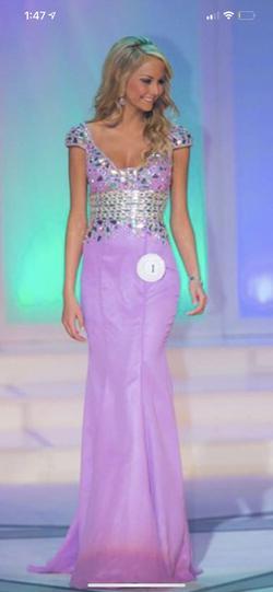 Jovani Purple Size 4 Mermaid Dress on Queenly