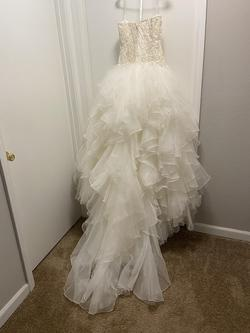Oleg Cassini Nude Size 14 Ball gown on Queenly