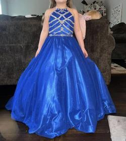 Ritzee Blue Size 0 Ball gown on Queenly