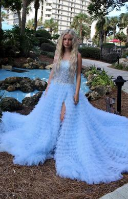 Sherri Hill Blue Size 0 Sequin Ball gown on Queenly