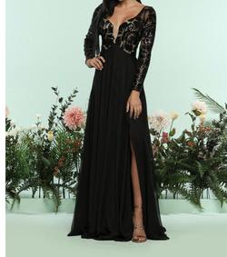 Style 31162 Zoey grey  Black Size 16 Plus Size A-line Dress on Queenly