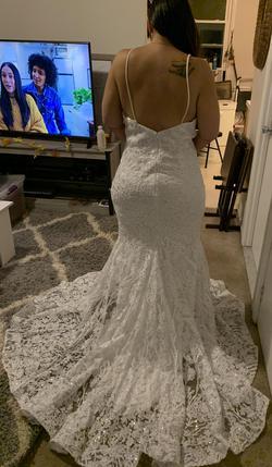 Adrienn Braun Couture White Size 14 Mermaid Dress on Queenly