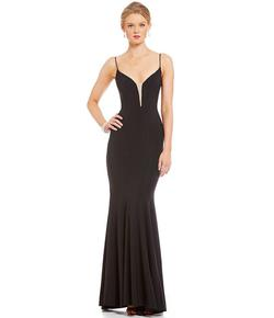 Betsy & Adam Black Size 8 Straight Dress on Queenly
