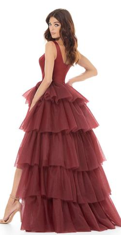 Ashley Lauren Red Size 8 Tulle Fun Fashion Ball gown on Queenly