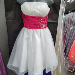 Style A187 Aspeed White Size 4 Mini Strapless Prom Cocktail Dress on Queenly