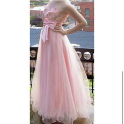Masquerade Pink Size 6 Sequin Ball gown on Queenly