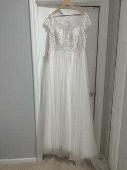 BHLDN White Size 16 Straight Dress on Queenly