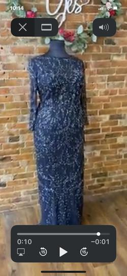 MGNY Blue Size 18 Straight Dress on Queenly