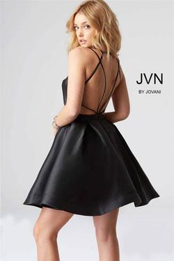 Jovani Black Size 0 Silk Homecoming Pageant Cocktail Dress on Queenly