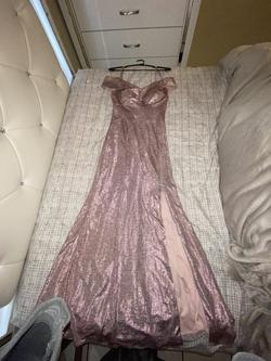 Nw Pink Size 6 Side Slit Ball gown on Queenly