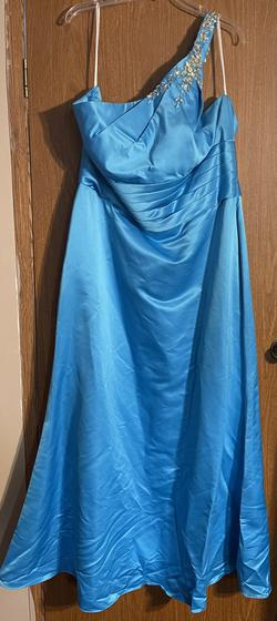 KANALI K Blue Size 22 Plus Size Straight Dress on Queenly