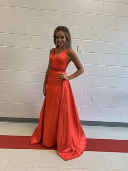 Ashley Lauren Orange Size 2 Train Dress on Queenly