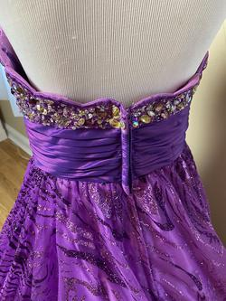 Jovani Purple Size 2 Pattern Ball gown on Queenly