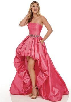 Rachel Allan Hot Pink Size 0 Strapless Train Dress on Queenly