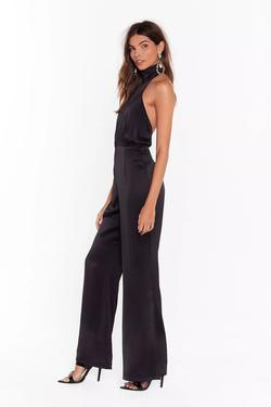 Black Size 4 Jumpsuit Dress on Queenly