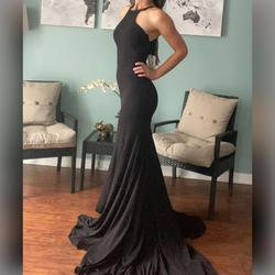 Jovani Black Size 0 Prom Pageant Mermaid Dress on Queenly