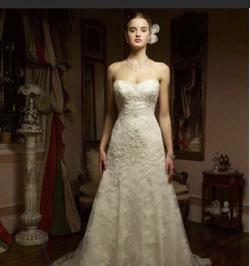 Casablanca White Size 10 Strapless Mermaid Dress on Queenly