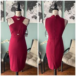 Guess Red Size 0 Interview High Neck Cocktail Dress on Queenly
