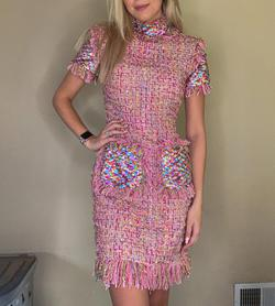 Jovani Multicolor Size 4 Pink Cocktail Dress on Queenly