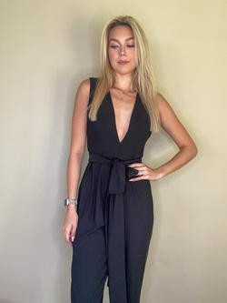 Mac Duggal Black Size 6 Jumpsuit Dress on Queenly